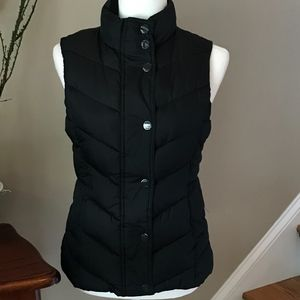 Gap Black Quilted Puffer Vest XS
